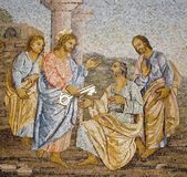 Rome - mosaic from st. Peters basilica - giving the papal authority — Stock Photo