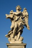 Rome - Angel with the superscription from Angels bridge — Stock Photo