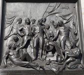 London - relief from Nelson memorial - Trafalgar square — Stock Photo