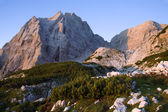 Julian Alps - Stenar peak in sunrise light - Slovenia — Stock Photo