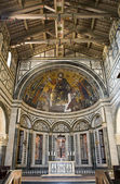 Florence - interior of San Miniato al Monte church — Stok fotoğraf