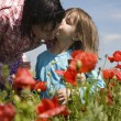Mother and daughter on the meadow — Stock Photo #11109264