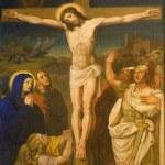 Chrystusa na krzyżu z Wiednia chruch kirche am hof — Zdjęcie stockowe #11109370