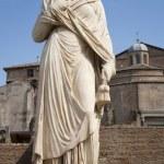 Rome - statue from Atrium Vestae - Forum romanum — Stock Photo #11109475
