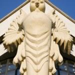 Vienna - owl on facade of university — Stock Photo #11109739