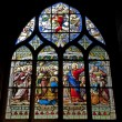 Paris - windowpane from Saint Severin gothic church - Jesus with children — Stock Photo #11109880