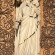 Paris - holy Mary from west facade side portal of Notre Dame cathedral — Stock Photo