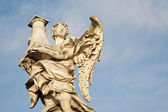 Rome - Ponte Sant'Angelo, Angel with the Column — Foto Stock