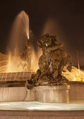 Rome - fountain from Piazza della Repubblica at night — Stock Photo