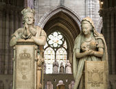 Paris - paryer of king Louis XVI and Marie Antoinette from Saint Denis gothic cathedral — Stock Photo