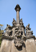 Prague - baroque hl. Mary column by F. M. Brokoff, 1736 — Stock Photo