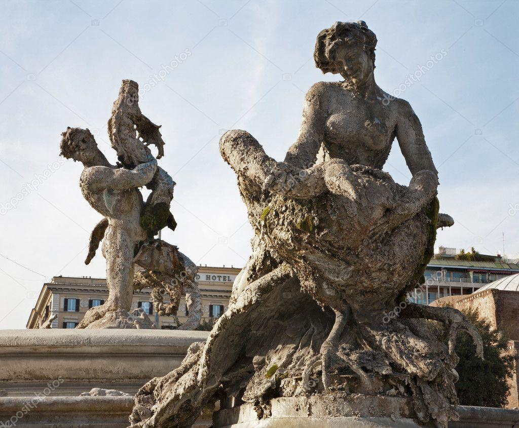 Roma Fontana Roma Fontana Delle Naiadi di