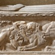 Rome, Italy, March 23, Samson s battle with the lion. Relief from late fifteenth-century wall tomb from Santa Maria Sopra Minerva church — Stock Photo