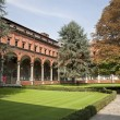 Milan - atrium of catholic university — Stock Photo
