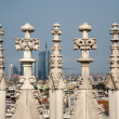 Milan - detail from roof of Duomo cathedral — Stock Photo