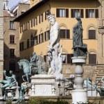 Florence - Neptune fountain from Ammannati 1575 — Stock Photo #11110154