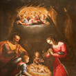 Stock Photo: Rome - Nativity - paint from SLuigi church
