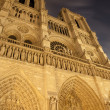 Paris - Notre Dame at night - Stock Photo