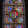 Paris - windowpane from Saint Denis gothic church — Stock Photo #11110316