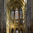 Prague - interior of st. Vitus cathedral — Stock Photo