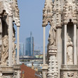 Mila - detail from roof of Duomo cathedral — Stock Photo
