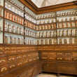 Stock Photo: Bratislav- credence from old pharmacy by st. Elisabeth order - detail of apotheca