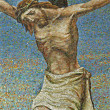 Milan - mosaic - Jesus on the cross - San Agostino church — Stockfoto