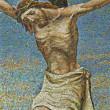 Milan - mosaic - Jesus on the cross - San Agostino church — Stock Photo #11111030