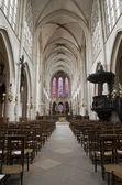 Paris - interior of gothic church -Saint-Germain-l'Auxerrois — Stock Photo