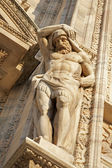 MILAN, SEPTEMBER - 16: Giants statue from west facade of Dom. September 16, 2011 in Milan, Italy. — Stock Photo
