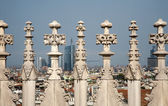 Milan - detail from roof of Duomo cathedral — Stok fotoğraf