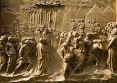Florence - detail from relief of gate - baptistery - old testament scene — Stock Photo