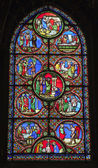 Parigi - windowpane dalla chiesa gotica di saint denis — Foto Stock