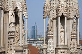Mila - detail from roof of Duomo cathedral — Stockfoto