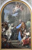 Rome - The Resurrection of Tabitha Placido Constanzi (1690-1759) from basilica Santa Maria deghli Angeli — Stock Photo