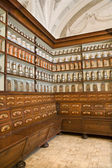 Bratislava - credence from old pharmacy by st. Elisabeth order - detail of apotheca — Stock Photo