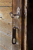 Old door and key — Stock Photo