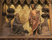 基督和玛丽莫德林-从在巴黎的圣母院大教堂救济 — 图库照片