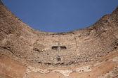 Rome - cross from facade of Santa Maria degli Angeli basilica — Stock Photo