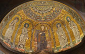 Rome - mosaic of Virgin Mary from apse of Francesca Romana church — Stock Photo
