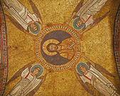 Rome - old mosaic from roof of side chapel from Santa Prassede church — Stock Photo