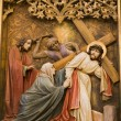 Bratislava - detail of gothic altar from st. Martins cathedral - Jesus and hl. Mary on the cross-way — Stock Photo #12112865