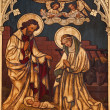 Постер, плакат: BRUSSELS JUNE 24: Nativity paint on the wood from Saint Antoine church on March 2012 in Brussels