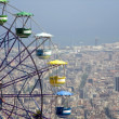 Stock Photo: Barcelon- outlook from Tibidabo hill and big whell