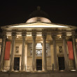 London - Nacional Gallery on Trafalgar square at night — Stock Photo