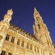 Stock Photo: Brussels - Town hall in evening. UNESCO World Heritage Site.