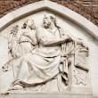 Rome - holy Matthew relief from Santa Maria Aracoeli church - Foto de Stock
