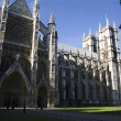 London - Westminster abbey in morning from east - Foto Stock