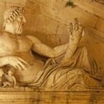 Rome - statue of Tiber for Palazzo Senatorio — Stock Photo #12114461