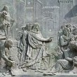 Pisa - detail from gate of cathedral - Jesus the Teacher — Stock Photo